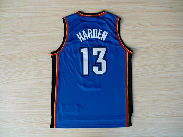 Best Quality Basketball Jersey Oklahoma #13 City Hot Sale Thunders Mesh Authentic With Famous Brand Logo summer style(China (Mainland))