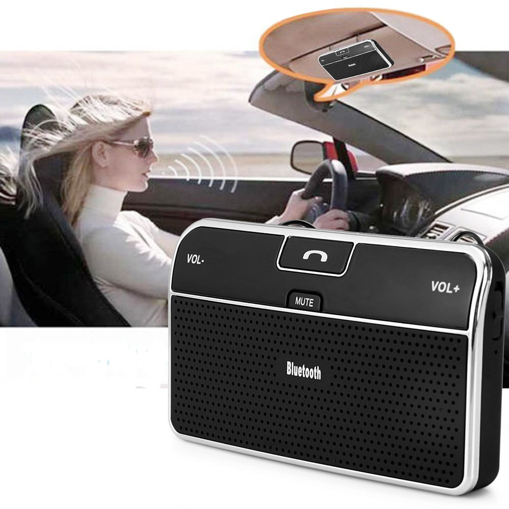 Car Mounted Wireless Speakerphone Bluetooth 4.0 EDR Car Kit for Vehicle Smart Phone Tablet with Handsfree Calling Voice Guidance(China (Mainland))