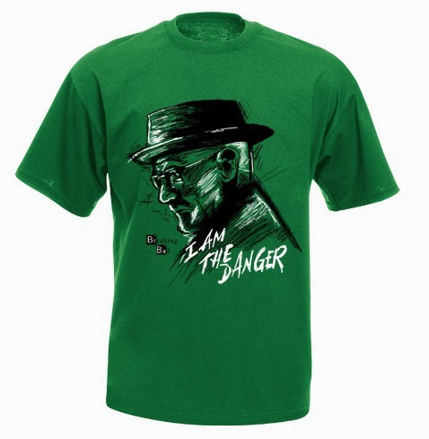 Breaking bad i am the danger t shirt men personality for High quality custom shirts