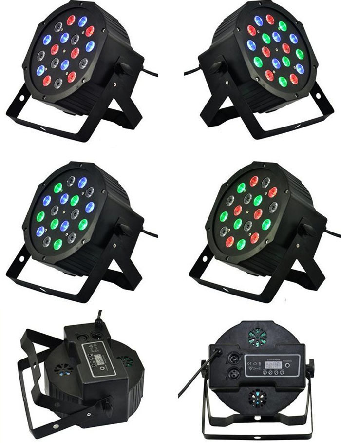 12pcs/lot Fast Shipping American DJ Mega Tri Par Profile Bright Stage LED Wash Light RGB Color Mixing 18*3 LEDs(China (Mainland))