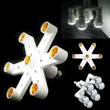 Meilleur prix Hot Splitter variable multiple 7in1 E27 adaptateur de base de l'ampoule convertisseur LED ampoule à économie d'énergie lampe à incandescence(China (Mainland))