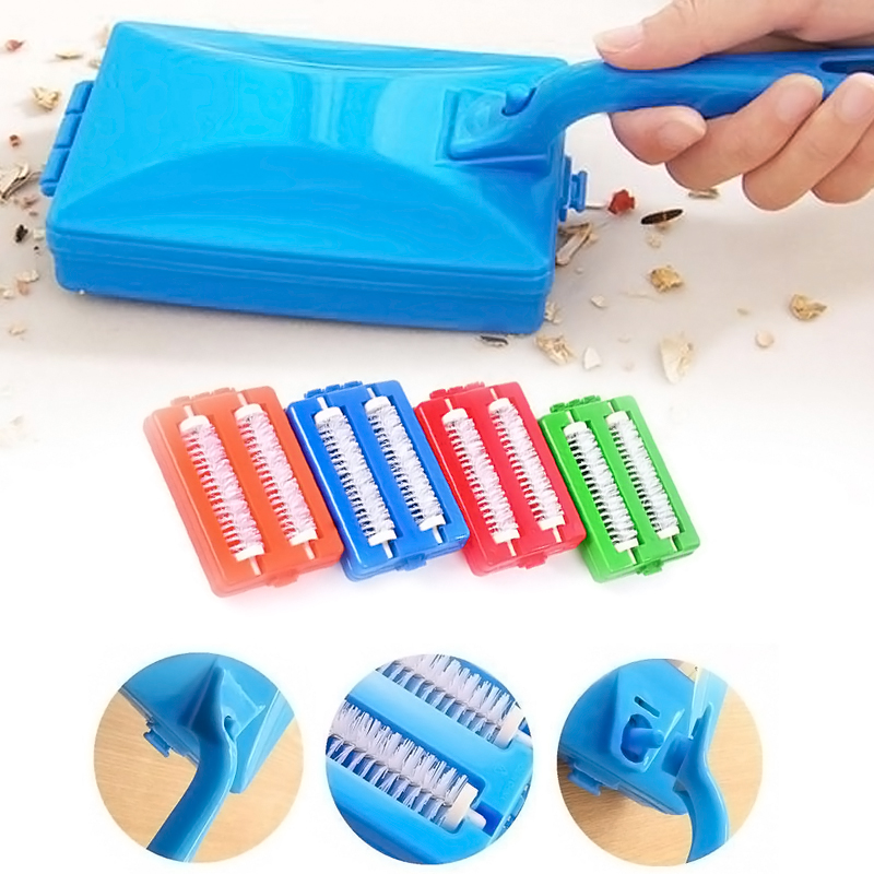 Heads Handheld Carpet Brushes Table Sweeper Crumb Brushes Cleaner Roller Tool Home Cleaning Brushes Accessaries ZH01557(China (Mainland))