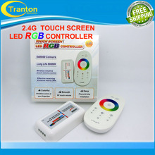 2.4G RF DC12-24V 18A  RGB controller touch screen remote control for RGB led strip,1Set/lot(China (Mainland))