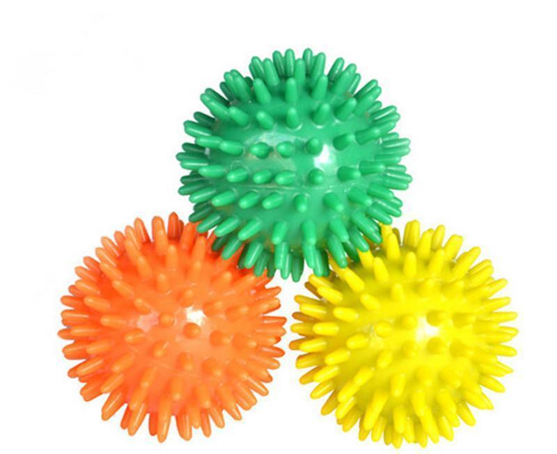 New Orange Yellow Green Randomly Color Spiky Stress Relief Ball Foot Bady Care Wholesale&Free Shipping(China (Mainland))