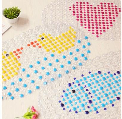 bathroom decor products PVC Bath mat anti-slip waterproof pad cute cartoon fish/dolphin/duck/heart massage tool ground mat(China (Mainland))