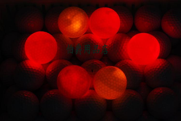 Neon ball light automatic luminous golf ball red blue green 3(China (Mainland))