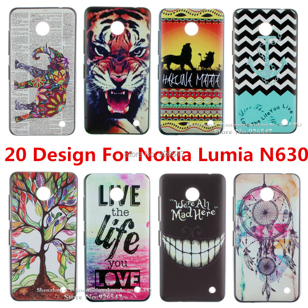 New Arrival Fashion Design Pattern Hard Back Case Cover For Nokia Lumia N630 N 630 cell phone shell Free Shipping(China (Mainland))