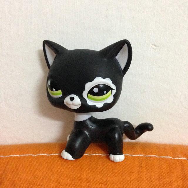 PET Shop ЛПС Фигурка Коллекция Для Девочек Черный Короткие Волосы Кошка #2249 DW2249