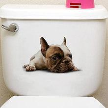 القطط ثلاثية الأبعاد الجدار ملصق المرحاض ملصقات حفرة عرض حية الكلاب الحمام للمنزل الديكور الحيوانات شارات الفينيل ملصق الفن ملصق(China)