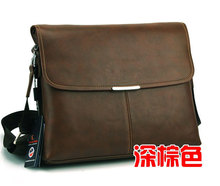 2013 new famous designer casual genuine leather men's Briefcase Bags&high quality fashion Messenger Bag for male 13(China (Mainland))