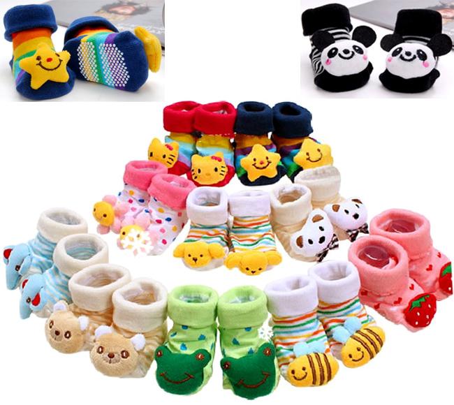 Newborn Cute Baby Girl Boy Unisex Anti slip Socks Animal Boots 0 6 Months
