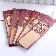 1X Fashion Wooden Bookmark Ducument Book Label Stationery Reading Marker New HG1658(China (Mainland))