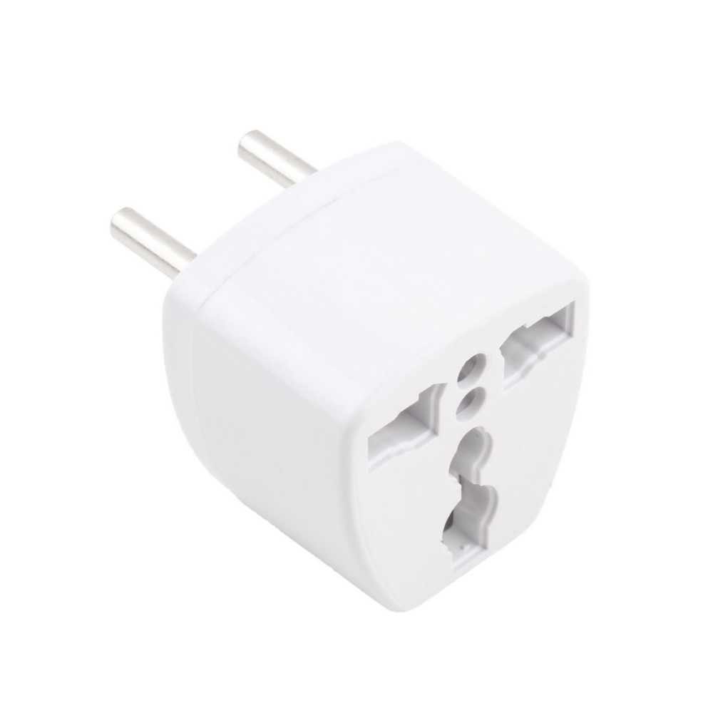 1pcs 100% brand new AU UK US to EU AC Power Plug Adapter Adaptor Converter Outlet Home Travel Wall DropShipping(China (Mainland))
