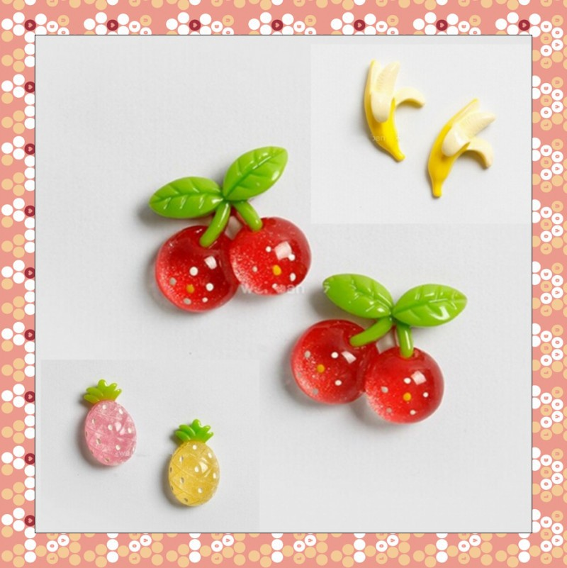 New Arrival 6 PCS Mixed Cute Candy Colors Fruit 3D Refrigerator Stickers Magnets Resin Crafts Family Gifts Free Shipping(China (Mainland))