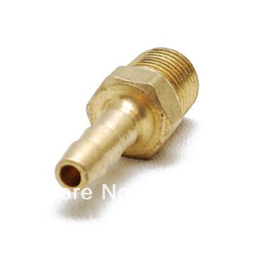 """Free Shipping 10PCS/LOT High quality Hose Connector Tapered Barbed 1/8"""" Male Threaded Brass Fitting(China (Mainland))"""