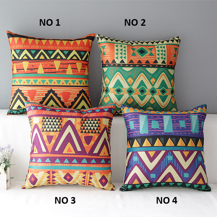 Ethnic Style Cushion Cover Throw Pillow Case Car Support Home Decor 45x45cm Free Shipping(China (Mainland))