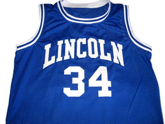 Jesus Shuttlesworth Jersey #34 Lincoln He Got Game Movie Basketball Jersey Blue, Shuttlesworth Basketball Jerseys S-3XL(China (Mainland))