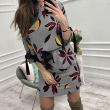 Nieuwe 2019 Vrouwen Casual Bloemen Gedrukt Jurk Vrouwen Zoete Boog O-hals Mini Zonnejurk Fashion Summer Party Jurken Strand Casual Kleding(China)