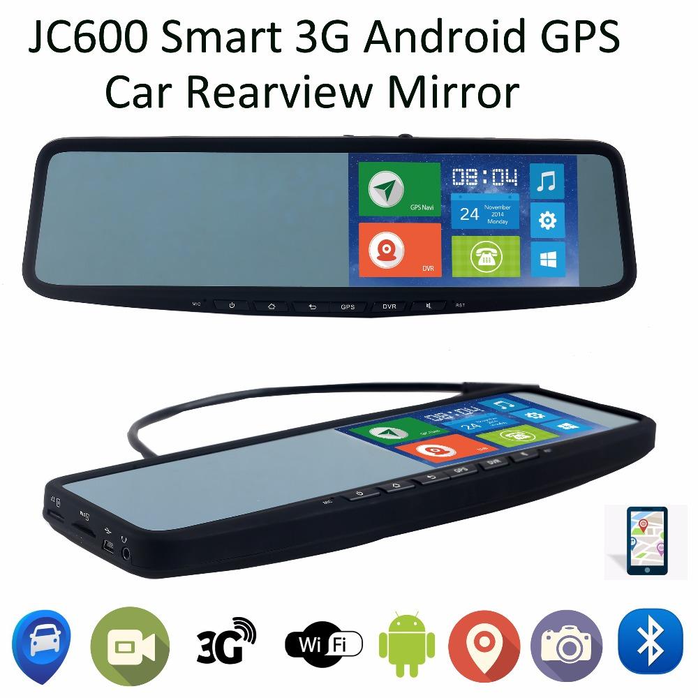 Jimi JC600 Smart Car interior rear view mirror 5inch Clip on universal strap 3G Android GPS Navigation GPS Tracker BT 1080P DVR(China (Mainland))