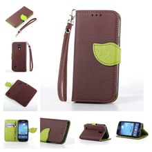 Buy Fashion Leather Flip Leaf Style Stand Wallet Card Holder Case Cover Samsung Galaxy S4 SIV S IV 4 Mini i9190 Phone Bags Cases for $3.33 in AliExpress store