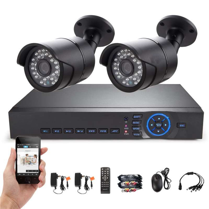 HD 4CH DVR Wired CCTV System Onvif 2pcs IP66 AHD 960P IP Cameras Waterproof IR Night Vision Home Security Surveillance Kit K88a<br><br>Aliexpress