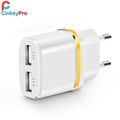 CinkeyPro USB Charger 4 Ports Mobile Phone Adapter 15W 3A EU Plug Wall Dock For iPhone 5 6 iPad Samsung Xperia Charging Device