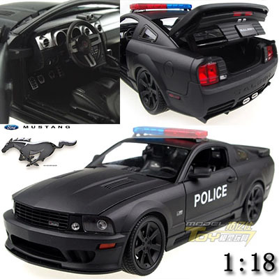 1:18 Mustang police edition alloy model car kids toys children Christmas gift car Decorate\collect Simulation(China (Mainland))