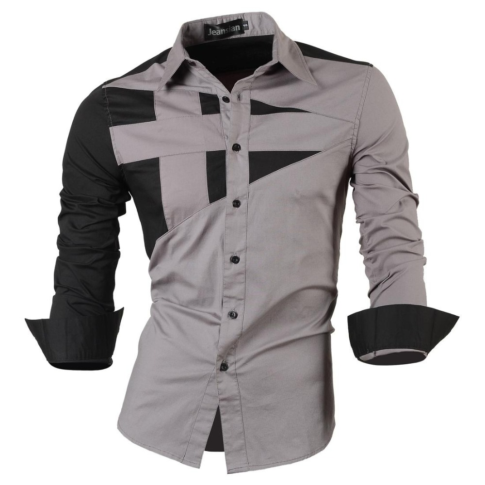 2016 new stylish designed mens dress tops casual shirt for Mens dress shirts fashion