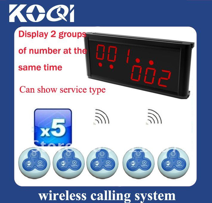 Restaurant Paging System Receiver Dispaly 2 groups of number at the same time ;Can show different service type; DHL freeshipping(China (Mainland))