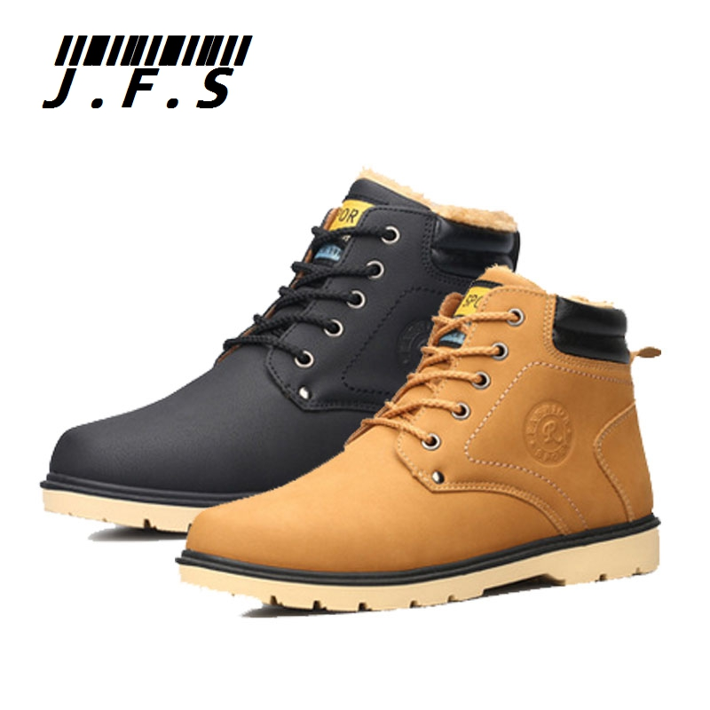 2015 Winter warm plus velvet men boots fashion casual snow shoes adult male lace-up high-top flats size 39-44 M280