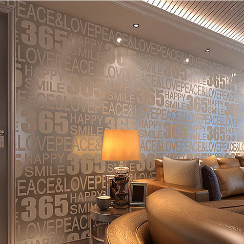 Fashion 365 english stereoscopic 3d video wall wallpaper for Living room specials