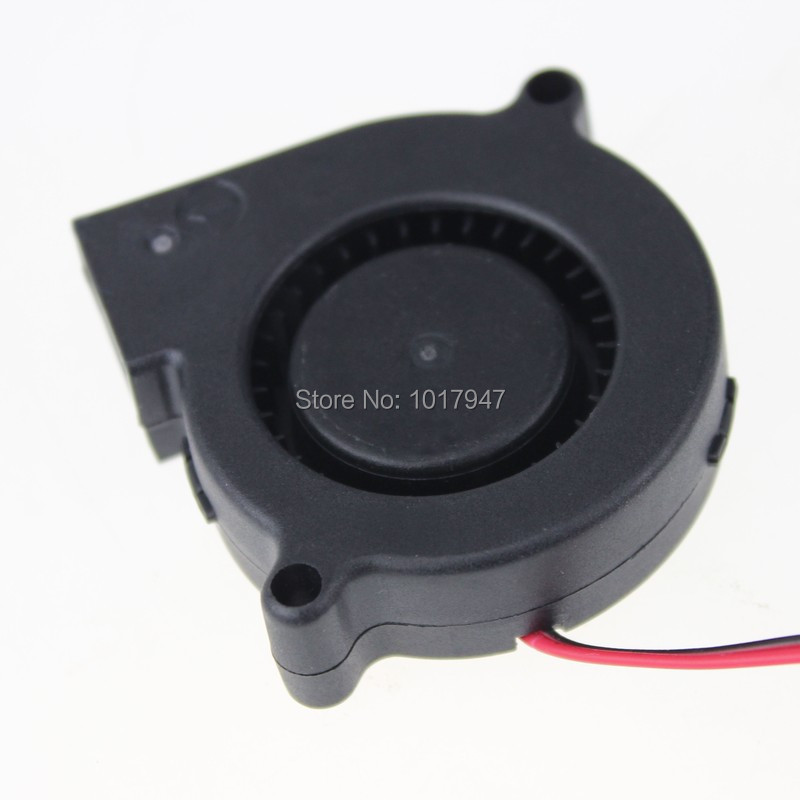 5pcs lot Brushless DC Turbine Cooling Blower Fan Exhaust Fans 50MM 50x15mm 5015S 12V<br><br>Aliexpress