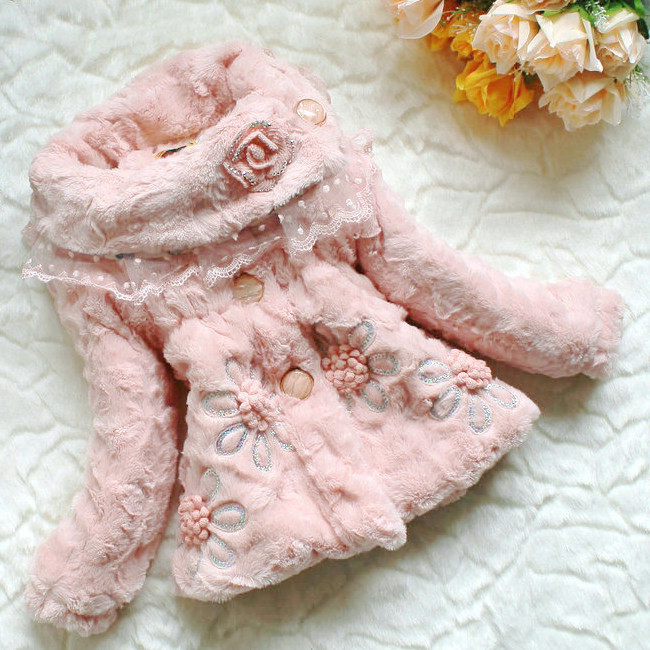FREE SHIPPING BABY GIRL WINTER FUR COAT NEW ARRIVAL KIDS OUTDOOR COAT 3PCS/LOT<br><br>Aliexpress