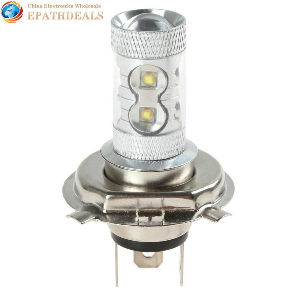 [25 AUG SALE] H4 12V 50W 960LM High Power White CREE LED Car Fog Lamp Car Daytime Running Light Bulb(China (Mainland))