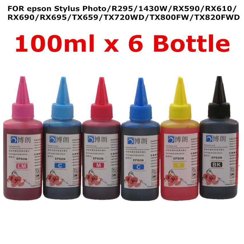 Universal High quality Premium Dye Ink 100ml For EPSON Stylus Photo R295 1430W RX610 RX690 RX695 TX659 TX720WD TX800FW TX820FWD(China (Mainland))