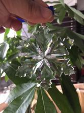 2 шт./лот кристалл снежинка орнамент новые в коробке декоративные