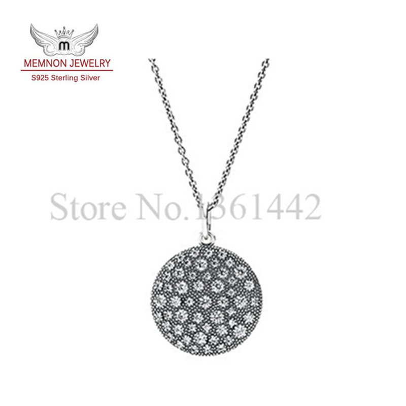 Sterling-silver-jewelry necklace 925 sterling silver fine jewelry Silver Cosmic Stars with Clear CZ necklaces pendants MNC003