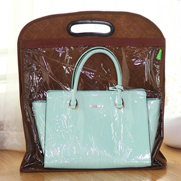 creative women's handbags non-woven fabric wardrobe storage bag organizer hanging dust collecting bag organizador(China (Mainland))