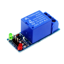 Smart Electronics 10Pcs 5V 1 Channel Relay Module Low level for SCM Household Appliance Control For arduino DIY Starter Kit(China (Mainland))