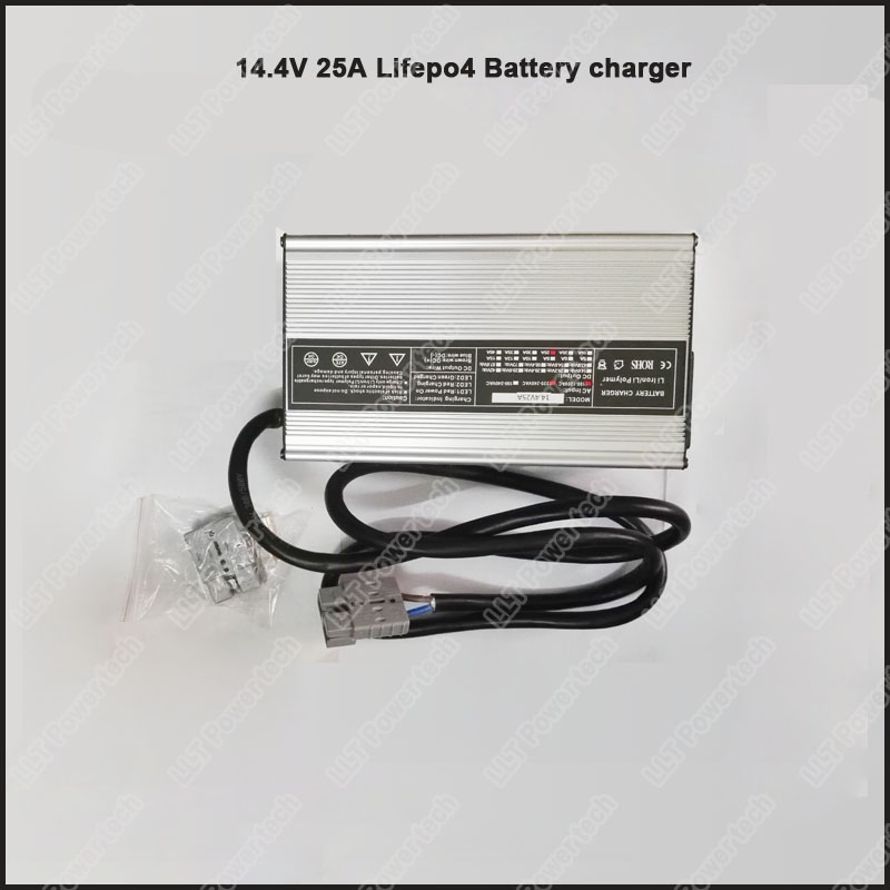 12V 4S Lifepo4 Battery Charger 14.4V 25A Electric Floor Washer Charger Electric  Sweeper Battery Charger For 4S Lifepo4 Battery