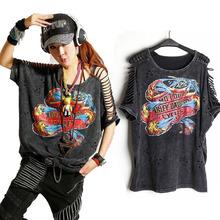 Buy T Shirt Women PLUS SIZE Desigual Punk Rock Fashion Tops Camisetas roupas femininas camisas mujer Tshirt Women's Clothing Clothes for $14.39 in AliExpress store