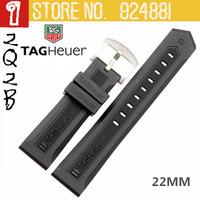 22mm TAG Brand Silica Gel Watchbands,Waterproof Silicone+Durable+Swiming+Antiperspirant,Black Watch Band Strap Belt 2135