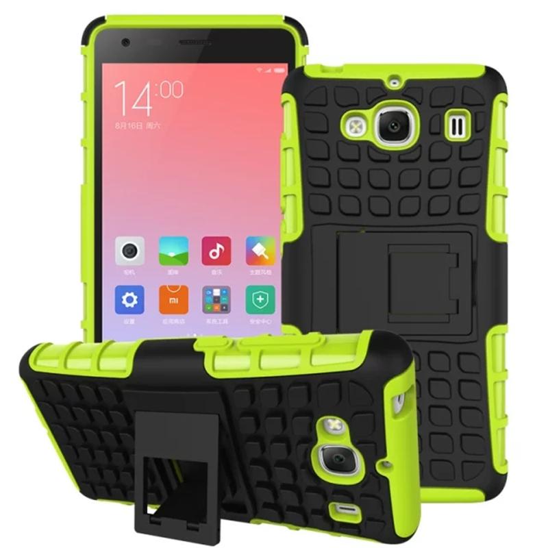 Гаджет  Xiaomi Redmi 2 Cover TPU & PC Dual Armor Back case with Stand Holder Hard Silicone Armor Cover Shock Proof Anti-Skid Combo Case None Телефоны и Телекоммуникации