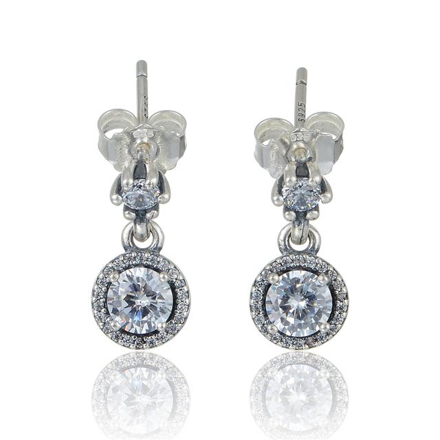 925 серебряные ювелирные изделия классическая элегантность женщины серьгу женские гипоаллергенные мода DIY ювелирных аксессуаров
