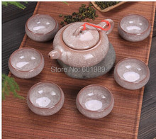 Sale 7 pcs set Crackle Glaze Tea Set Multi Color Ceramic Tea pot 1 China teapot