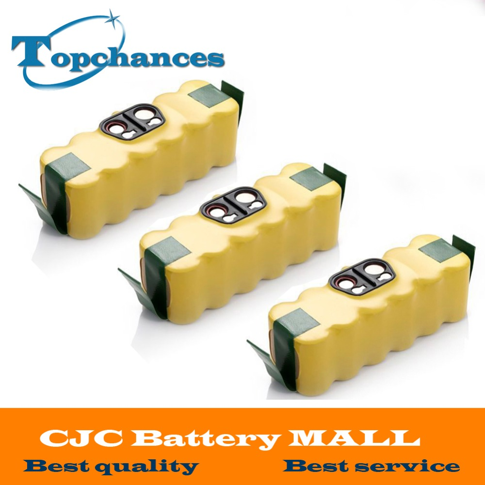 3x 14.4V 3500mAh Ni-MH Battery for iRobot Roomba Vacuum Cleaner for 500 560 530 510 562 550 570 581 610 650 790 780 532 760 770(China (Mainland))