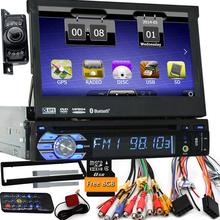 "7"" Universal 1 Din Car Audio DVD Player+Radio+GPS Navigation+Autoradio+Stereo+Bluetooth+PC+DVD Automotivo+SD USB RDS Aux+camera(China (Mainland))"