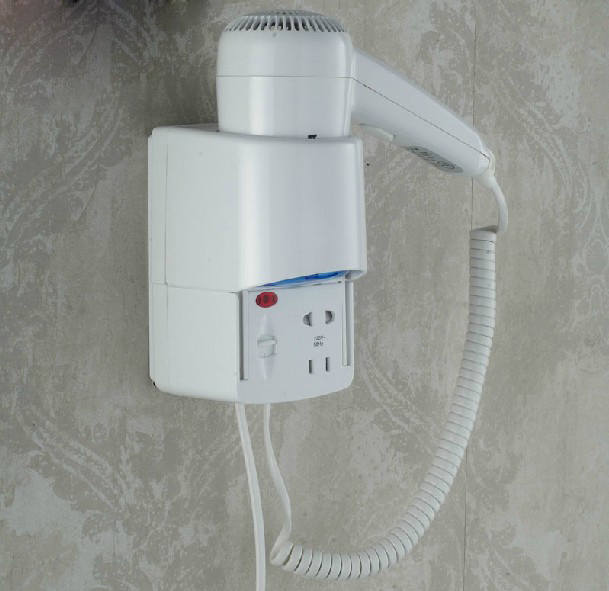 Dual Voltage Hotel Household Wall Mouted Bathroom Electric Hair Dryer Blower(China (Mainland))