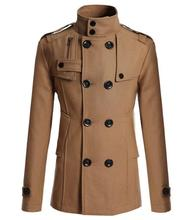 British Style Winter Autumn Cotton Coat Outwear Trench Coat Men Overcoat Casual Overcoat Men Four Fashion Colors Men Trench Coat(China (Mainland))