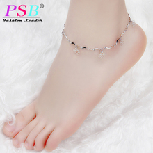 Sexy Chain Link Beach Anklets Pendant Crystal Rhinestone Ankle Bracelet Foot Jewelry For Women Anklets Foot Accessories
